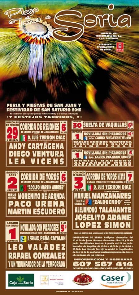 COMPLETA REJONES: Soria, con Diego Ventura, Andy Cartagena y Léa Vicens con Toros de Luis Terrón.
